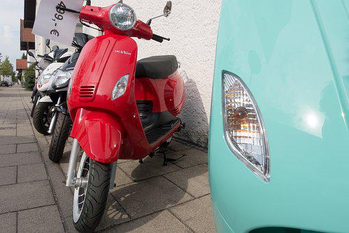 Motor Scooter, Summer, Driving Pleasure, Series
