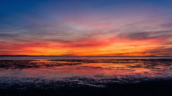 Arcachon Basin, Sunset, Audenge