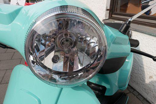Motor Scooter, Summer, Driving Pleasure, Turquoise