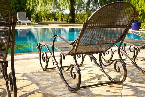 Sunbeds, Pool, Water, Relax, Luxury, Hotel, Swim