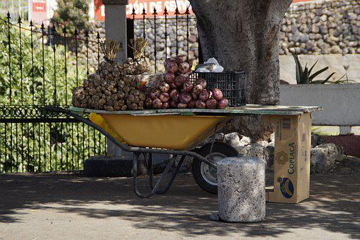 Wheelbarrow, Sell, Agriculture, Street Vending, South