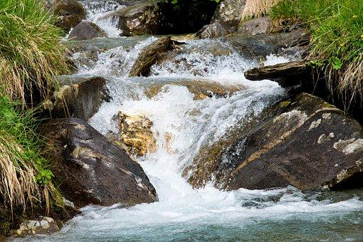Creek, Water, Splash, Landscape, Nature, Bach, Flow