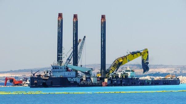 Construction Site, Cranes, Heavy Machines, Development