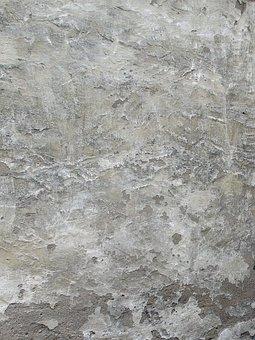 Texture, Background, Grunge, Plaster, Wall, Grey