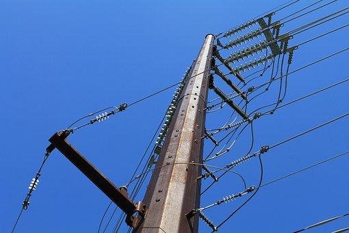Poles, Power, Sky, Electricity, Energy