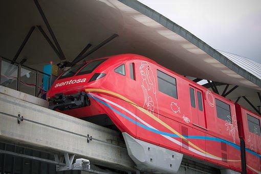 Monorail, Singapore, Rail, Transport, Urban, Train