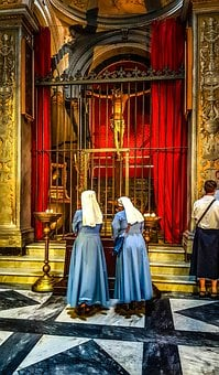 Nun, Church, Religion, Religious, Habit, Sisters