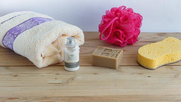 Hygiene, Spa, Soap, Natural, Towel, Sponge, Washing