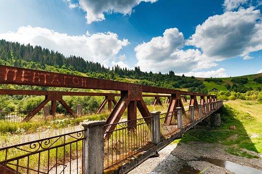 Old, Bridge, Ukraine, Carpathian Mountains