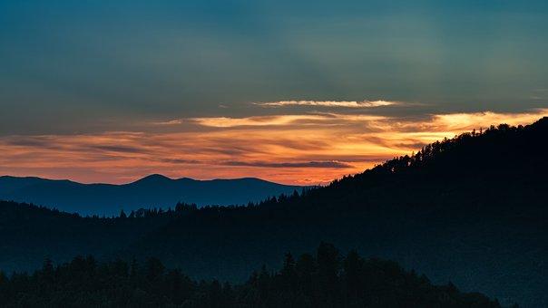 Landscape, Sunset, Ukraine, Carpathian Mountains