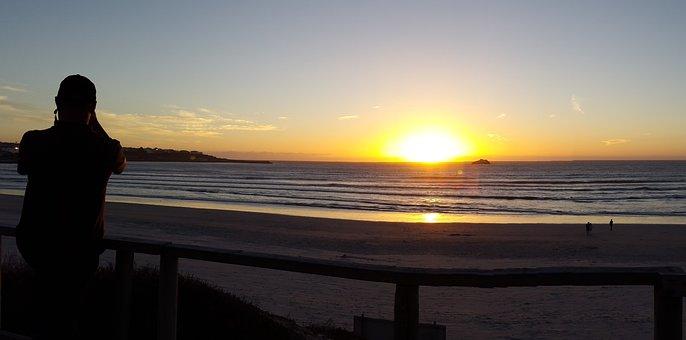 Sunset, Beach, Beach Sunset, Water, Sky, Sea, Landscape