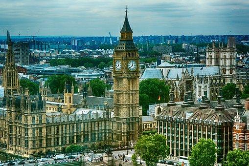 London, England, City, Landmark, Government, Parliament