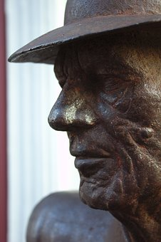 Statue, Iron Man, Sculpture, Face