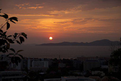 Sunset, Sky, Mountain, Nature, Landscape, Cloud
