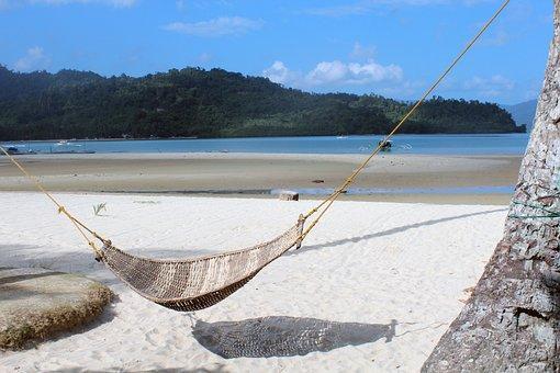 Hammock, Beach, Paradise, Holiday, Summer, Sea, Ocean