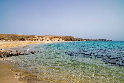 Playa Mujeres, Lanzarote, Canary Islands, Spain, Africa