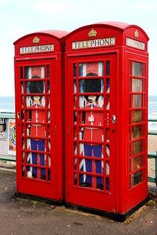 Telephone Boxes, Red, English, England, Telephone, Box