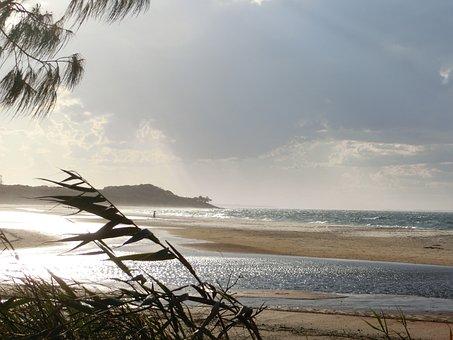 Coast, Shore, Lagoon, Sea, Sky, Sand, Cloud, Seascape