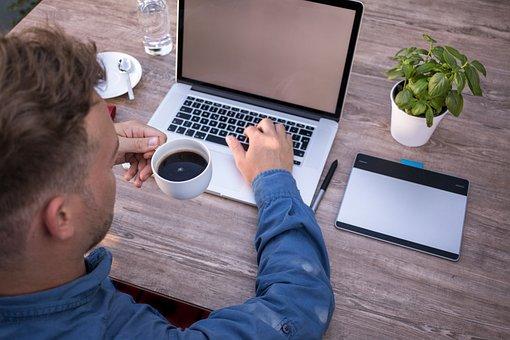 Staff, Coffee Break, Work, Workplace, Macbook, Mockup