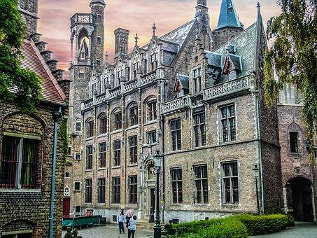 Belgium, Bruges, Benelux, Flanders, Architecture, Sky