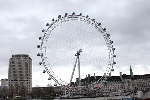 London Eye, England, Architecture, Great Britain