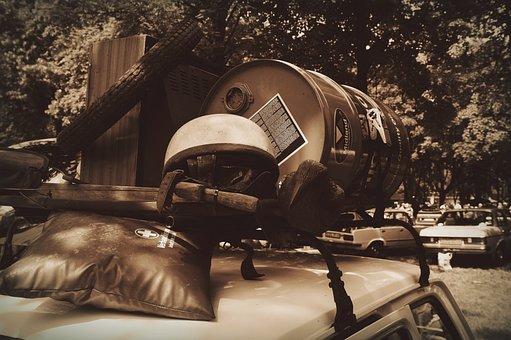 Roof Rack, Lumber, Antiques, Helmet Motorcycle, Barrel