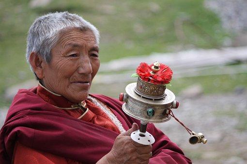 Arnie, Monks, Turning The Wheel, Tibetan Buddhism