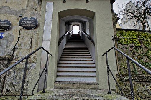 Wasserburg, Inn, Old Town, Graveyard Staircase