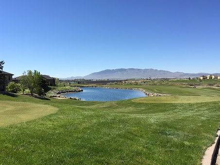 Golf, Landscape, Nature, Water, Sunny, Outdoor