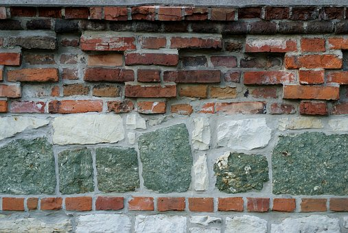 Defensive Wall, Brick, Chalk, Stone, Architecture, Old