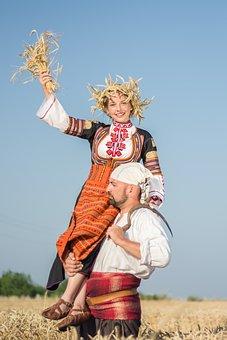 Girl, Bulgarian, Folk Dance, Folklore, Clothing, Blond