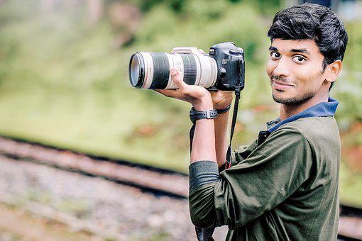 Camera, Canon, Men, Style, Adult, Photography, Lens
