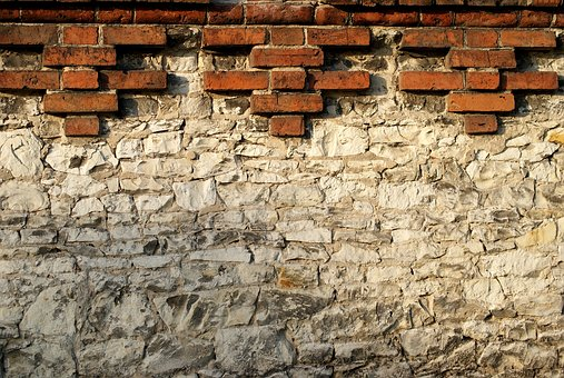 Defensive Wall, Brick, Chalk, Stone, Texture