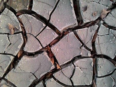 Cracked Soil, Drought, El Nino, Summer, Soil, Dirt