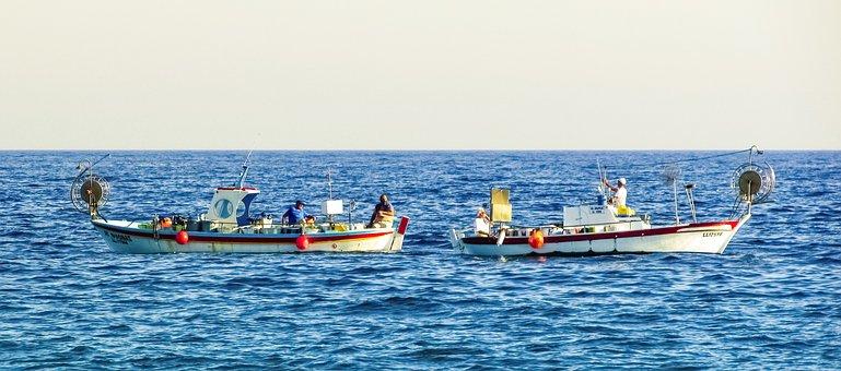 Fishing Boats, Traditional, Fishermen, Colleagues, Sea
