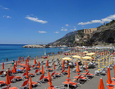 Italy, Beach, Sea, Landscape, Amalfi Coast, Vacancy