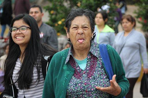 Grandmother, Angry, Rock