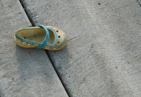 Shoe, Single, Child, Abstract, Footwear, Abandoned