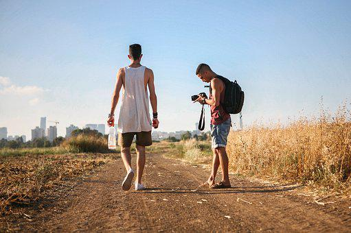 Walking Together, Nature, Friends, People, Together