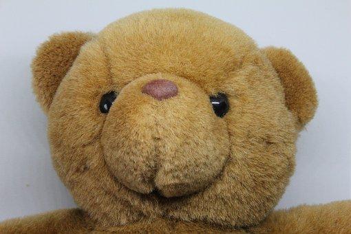 Teddy Bear, Soft Toy, Cute, Fur, Childhood, Fluffy