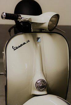 Vespa, Roller, Motor Scooter, Vehicle, Classic, Retro
