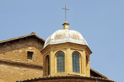 Italy, Rome, Church, Roofing, Coverage, Lead, Facade