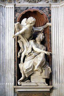 Italy, Rome, Church, Santa-maria-del-popolo, Marble