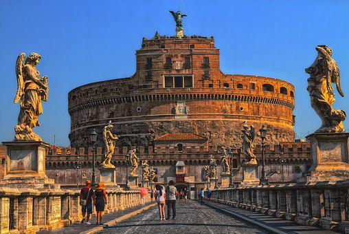 Rome, Castel Sant'angelo, Italy, Building, Historically