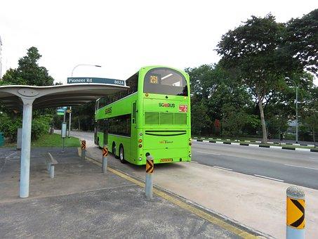 Bus, Bus Stop, Singapore, Government Bus
