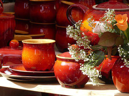 Pottery, T, Earthenware, Still Life, Ceramic, Red