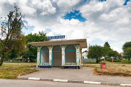 Bus, Stop, City, Ternopil, Тернопіль