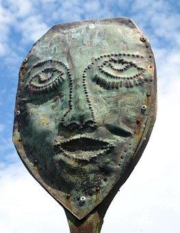 Art, Artwork, Head, Portrait, Sculpture, Metal
