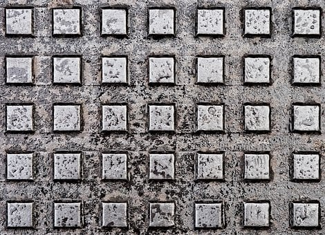 Metal, Grunge, Cover, Plate, Square, Array, Grid, Old