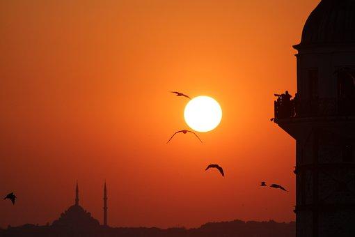 Maiden's Tower Kiz Kulesi, Solar, Cami, Istanbul